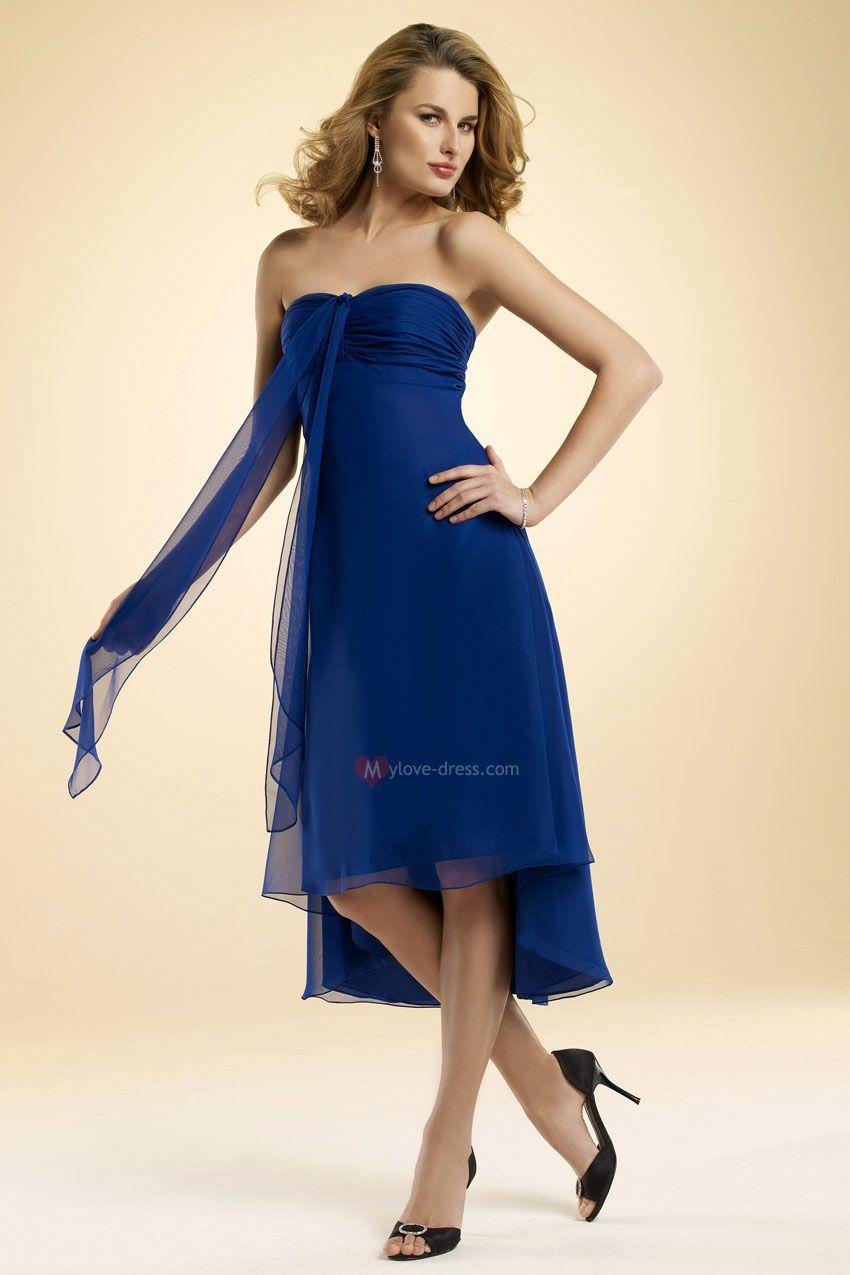 Navy blue chiffon bridesmaid dresses cheap wedding dresses online