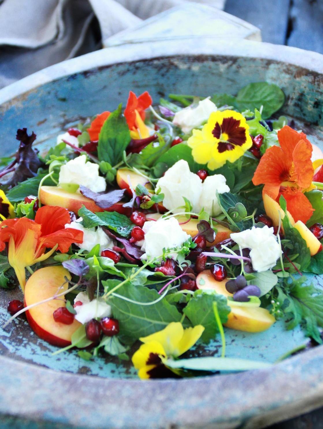 Nectarine Herd Salad with Orange Blossom Labneh #recipe #glutenfree |  yum. Gluten Free Magazine December 2015 #23