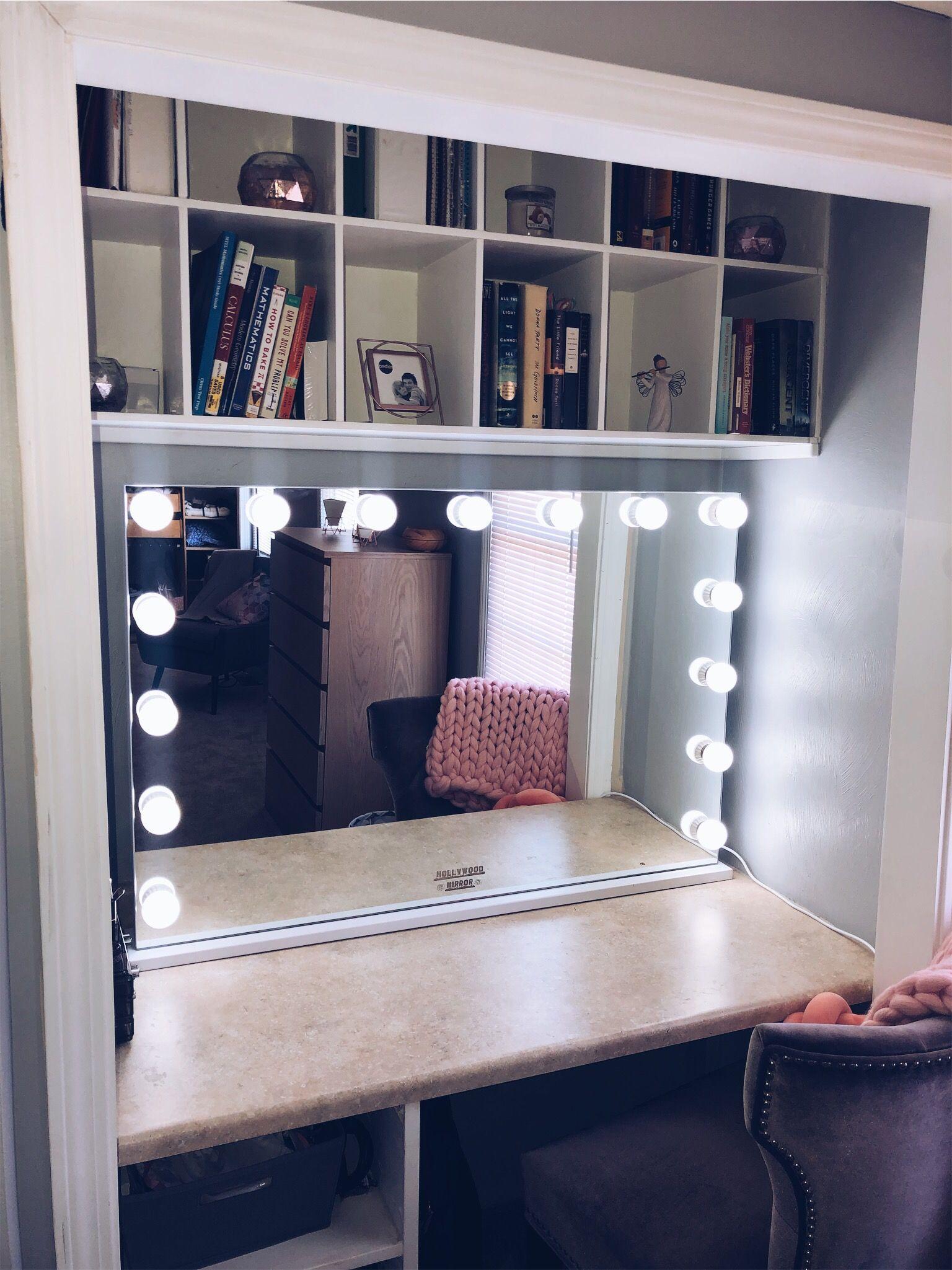 Vanity mirror with lights, wall plugin, Hollywood mirror