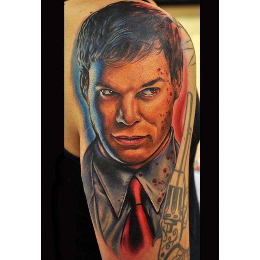 Dexter portrait with images portrait tattoo colorful