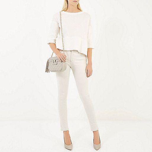Grey quilted cross body bag - cross body bags - bags / purses - women