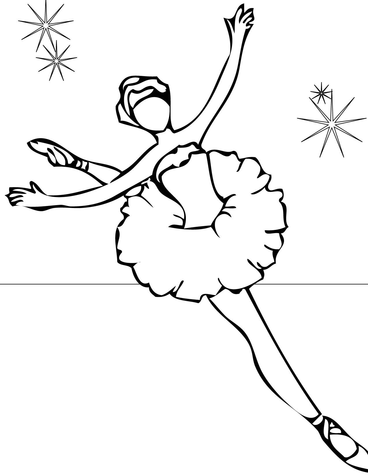 Dancer Coloring Pages Cool Ballet Dancer Coloring Pages Special Picture  Colouring