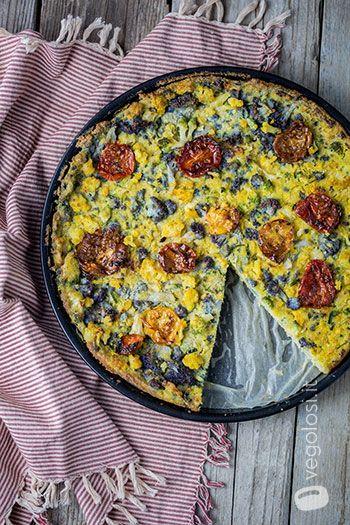 La ricetta del clafoutis vegano salato con cavolfiori e pomodorini è originale e molto facile da preparare.