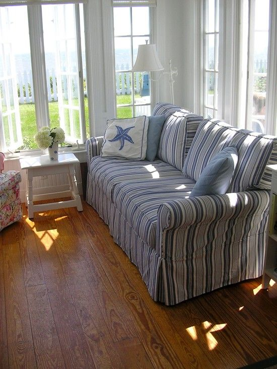 Denim Sofa Design, Pictures, Remodel, Decor And Ideas   Page 7. Striped  SofaBlue ...