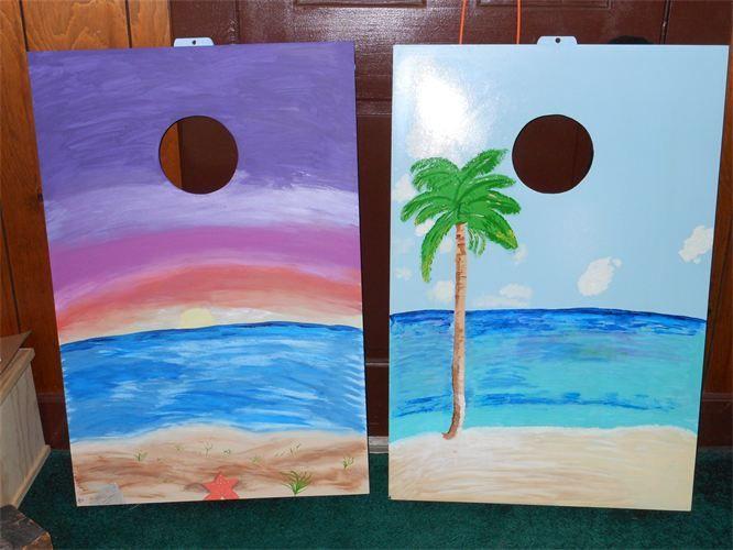 Beach Cornhole Design Craft Ideas Cornhole Cornhole