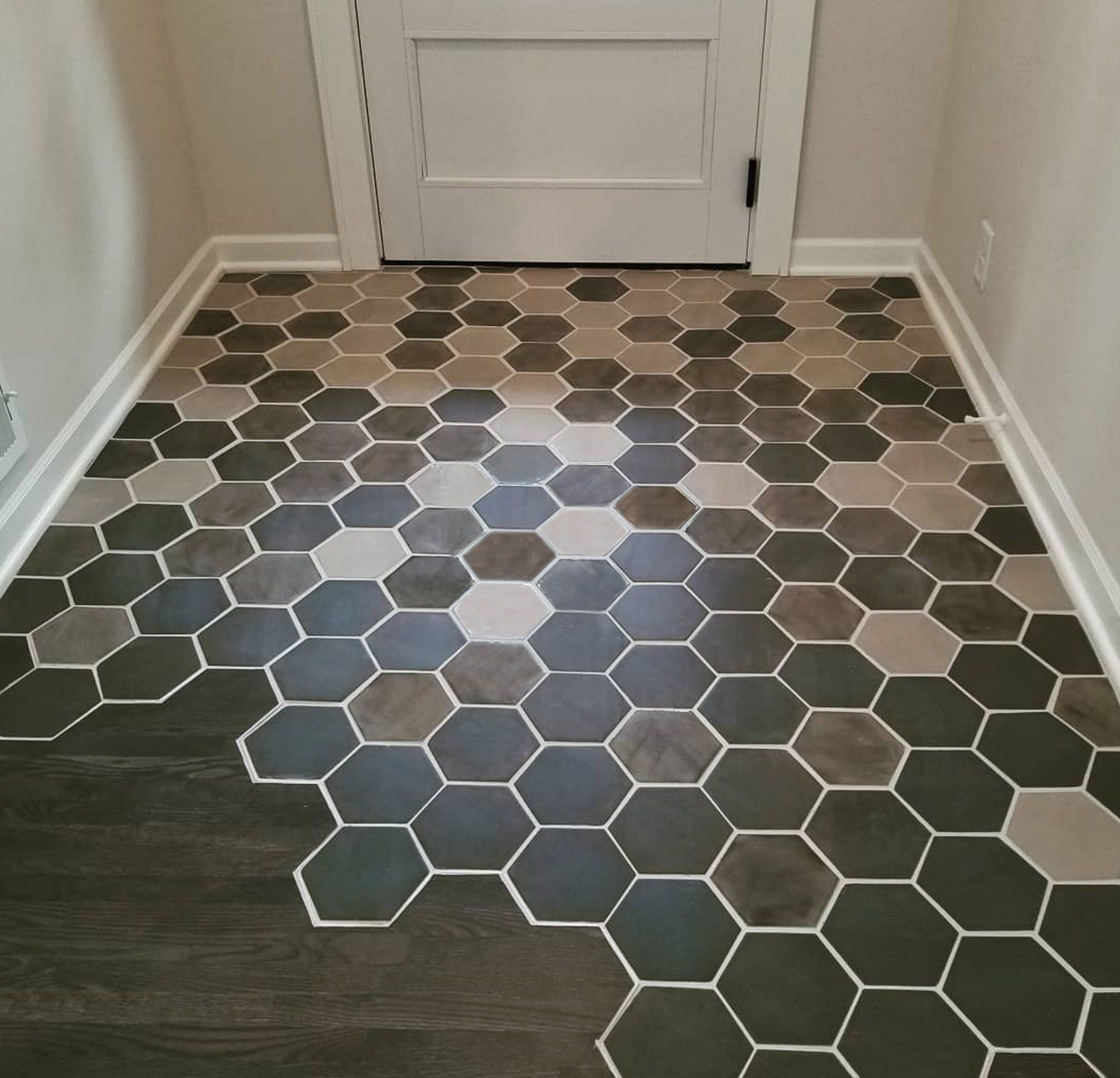 Howto floor transition from tile to wood in cool stuff