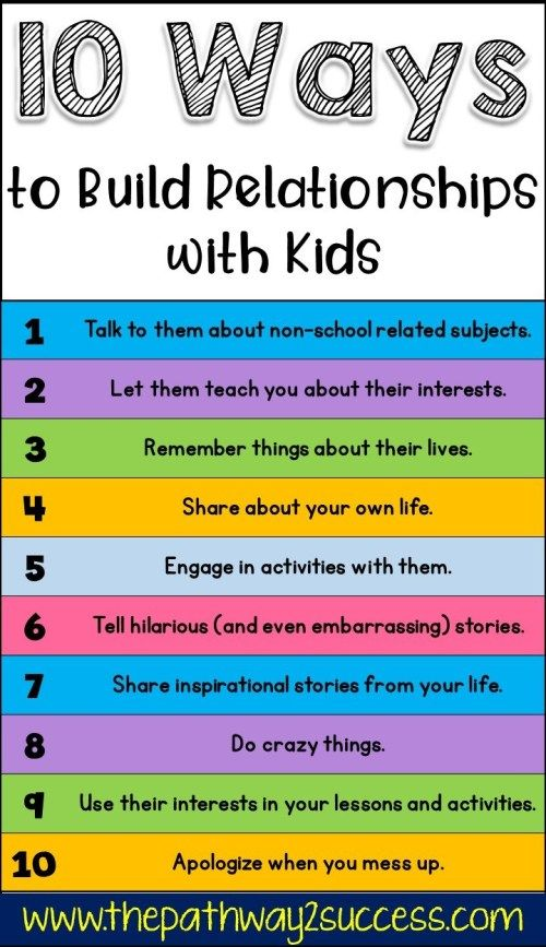 10 Ways to Build Relationships with Kids #parenting
