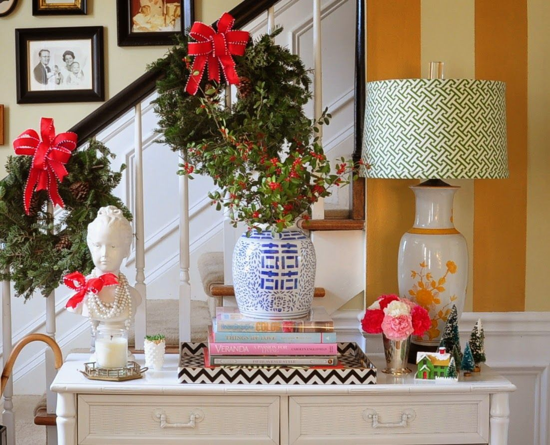 Colorful southern holiday decor from The Pink Clutch Holiday Open House Home Tour from & Holiday Open House--Paige from The Pink Clutch | Pink clutch Open ...
