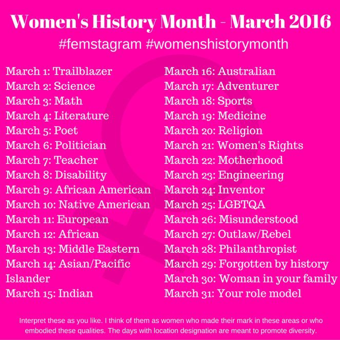 Women's History Month - March 2016