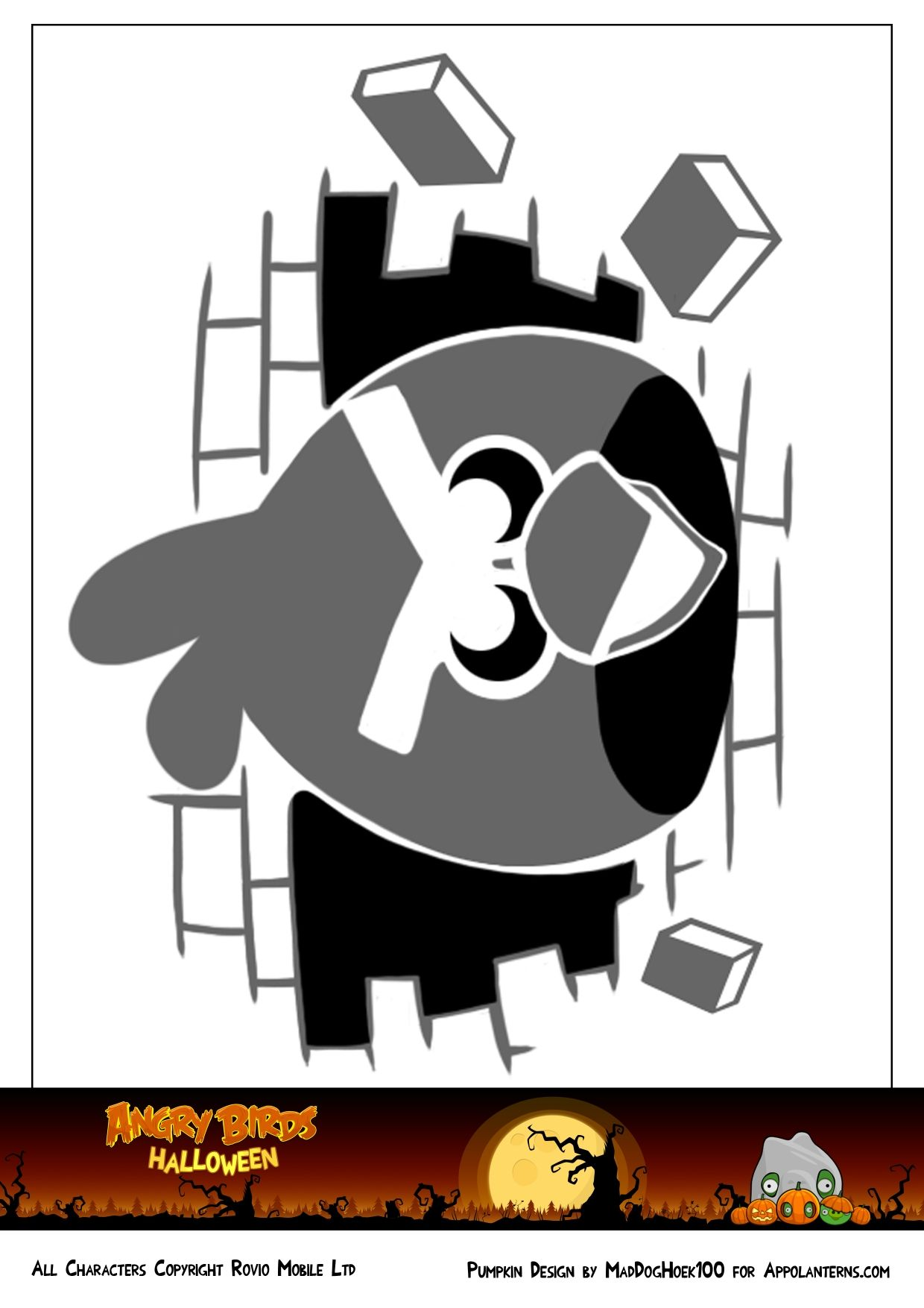 Rovio Angry Birds Pumpkin Template. More templates here http ...