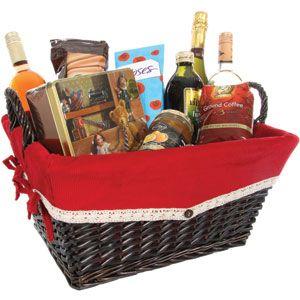 Buy Luxury Hamper Basket At Home Bargains Luxury Hampers Christmas Luxury Hamper Basket