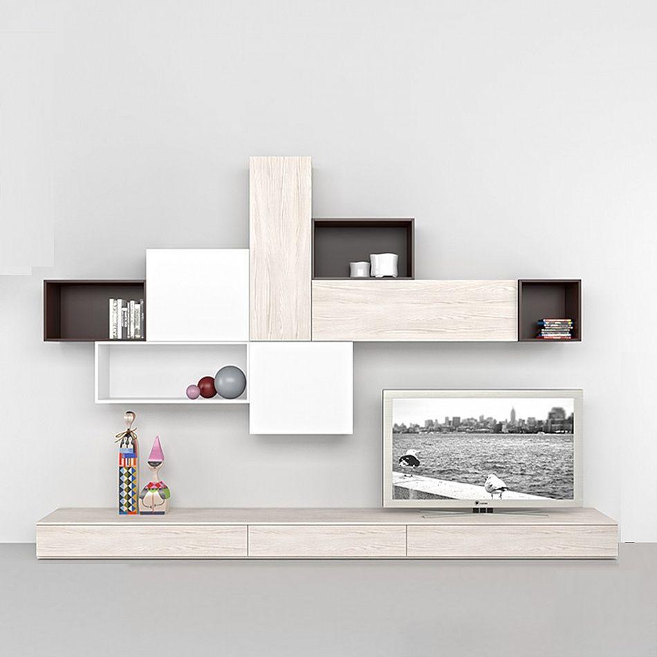Italian Design Modern Tv Media Unit Coffee By Mobilstella
