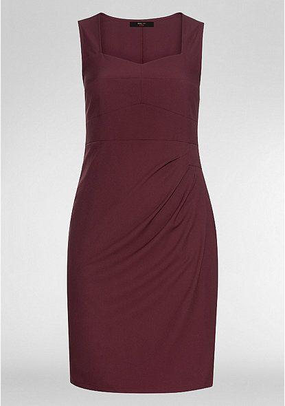Sheego Anna Scholz Stretch Kleid Bordeaux W36 2016 Bekleidung