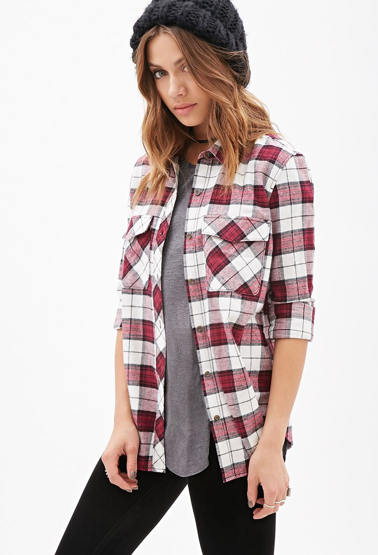 Flannel shirt season  Plaid Flannel Shirt  FOREVER    Clothes I need in my