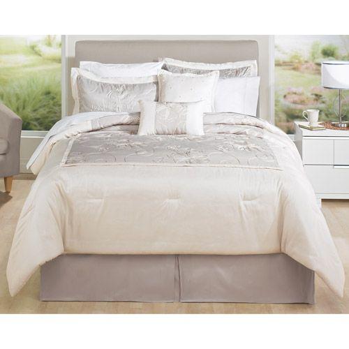 Hometrends Crewel Bedding Comforter Set 94 47 Queen Includes 86 X 90 2 Shams 30 20 And A Bedskirt 16 Drop