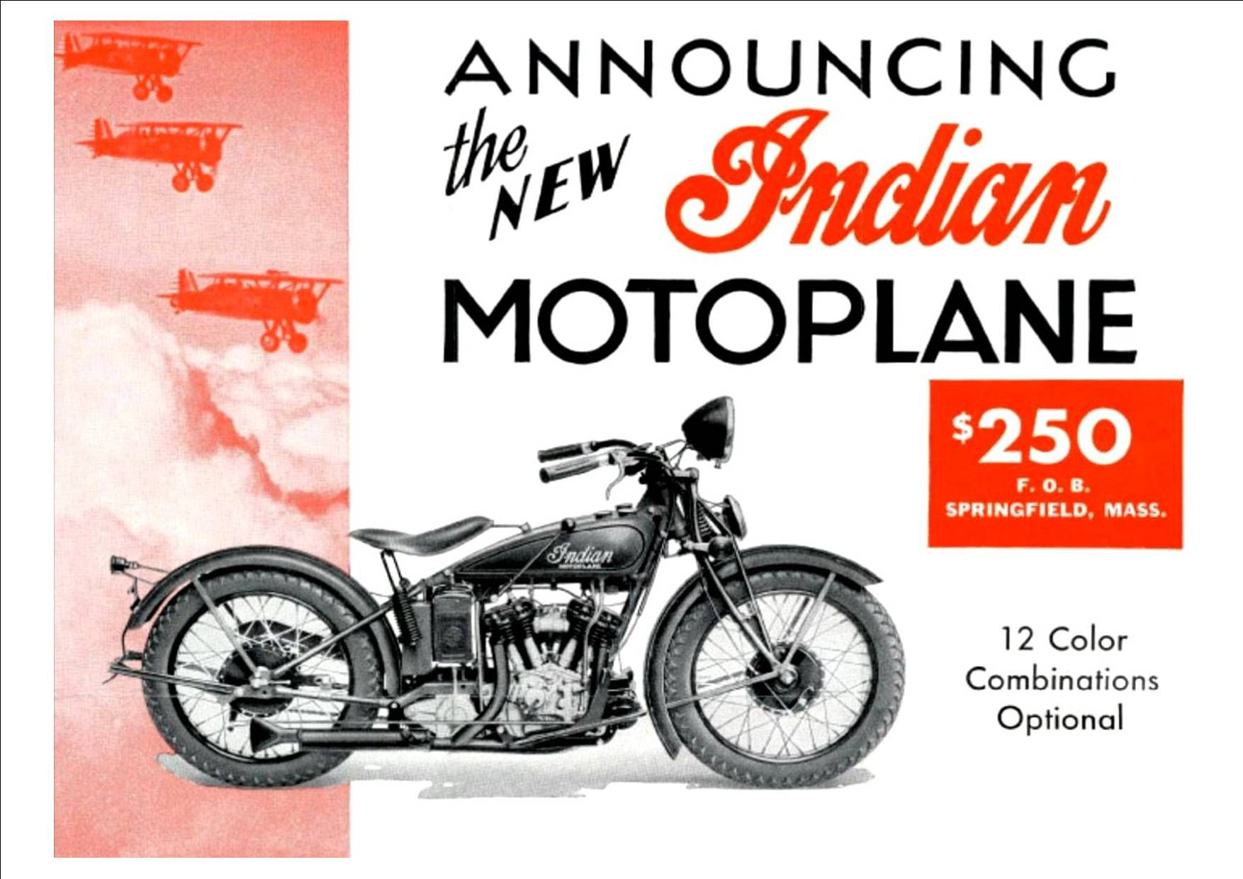 A Fantastic Collection Of Images Taken From Wonderful Vintage Motorcycle Ads Dating From The La Vintage Indian Motorcycles Indian Motorcycle Advertising Poster