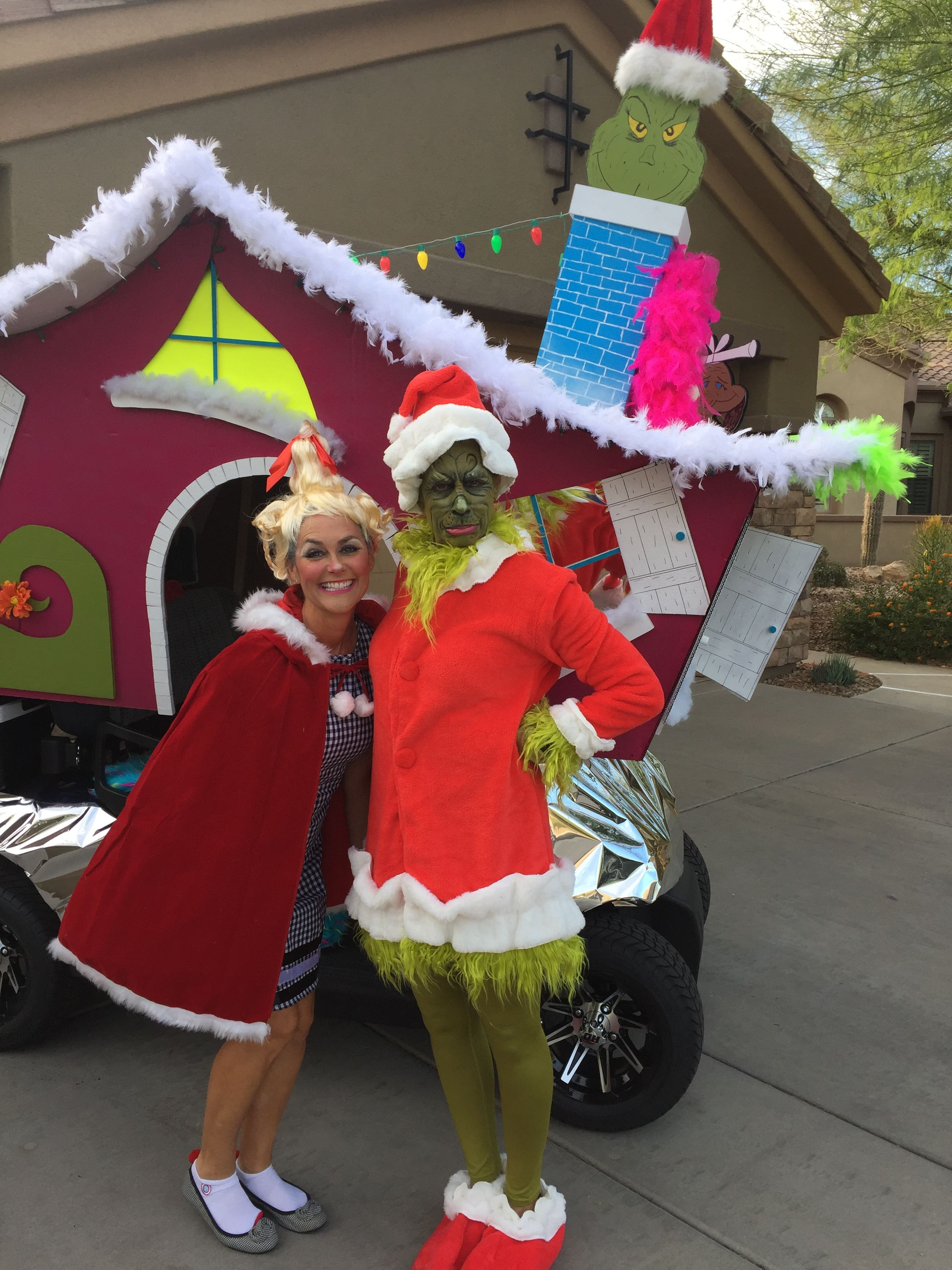 The Grinch Golf Cart Golf Cart Decorations Christmas Parade Floats Christmas Golf