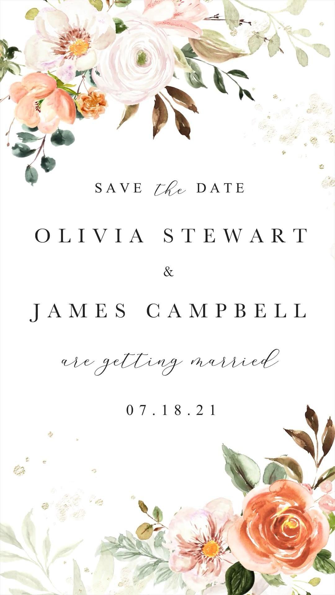 Video Rustic Boho Floral Save The Date Wedding Video Invitation Di 2020 Contoh Undangan Pernikahan Kartu Pernikahan Kartu Undangan Pernikahan