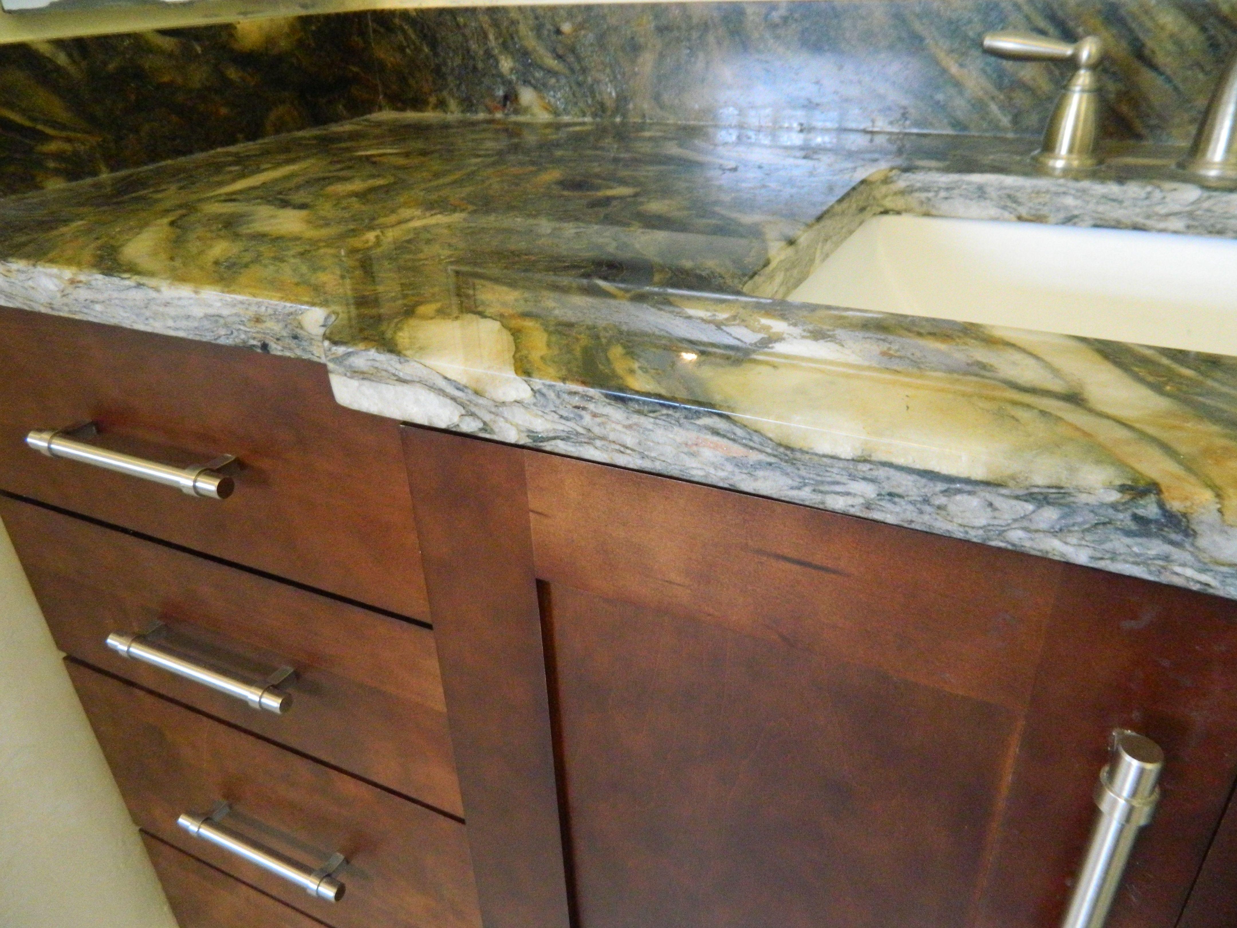 #countertops #vanity #edge #cabinets #handles