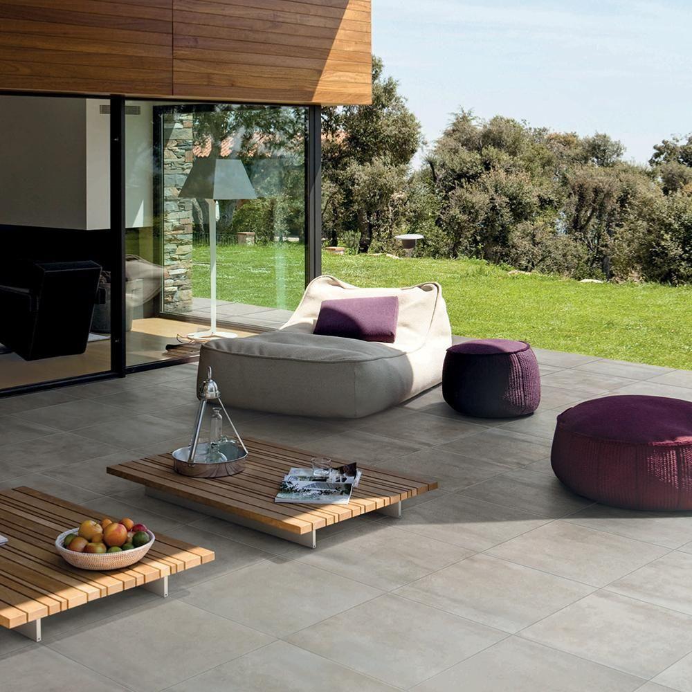 Carrelage Exterieur Effet Beton 60x60 Pearl Out Grip Naturel