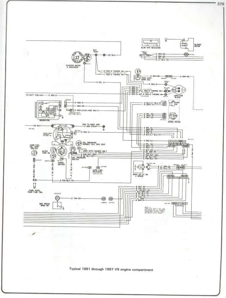 16 94 Chevy Truck Engine Bay Wiring Diagram Engine Diagram Wiringg Net 1979 Chevy Truck Chevy Trucks Truck Engine