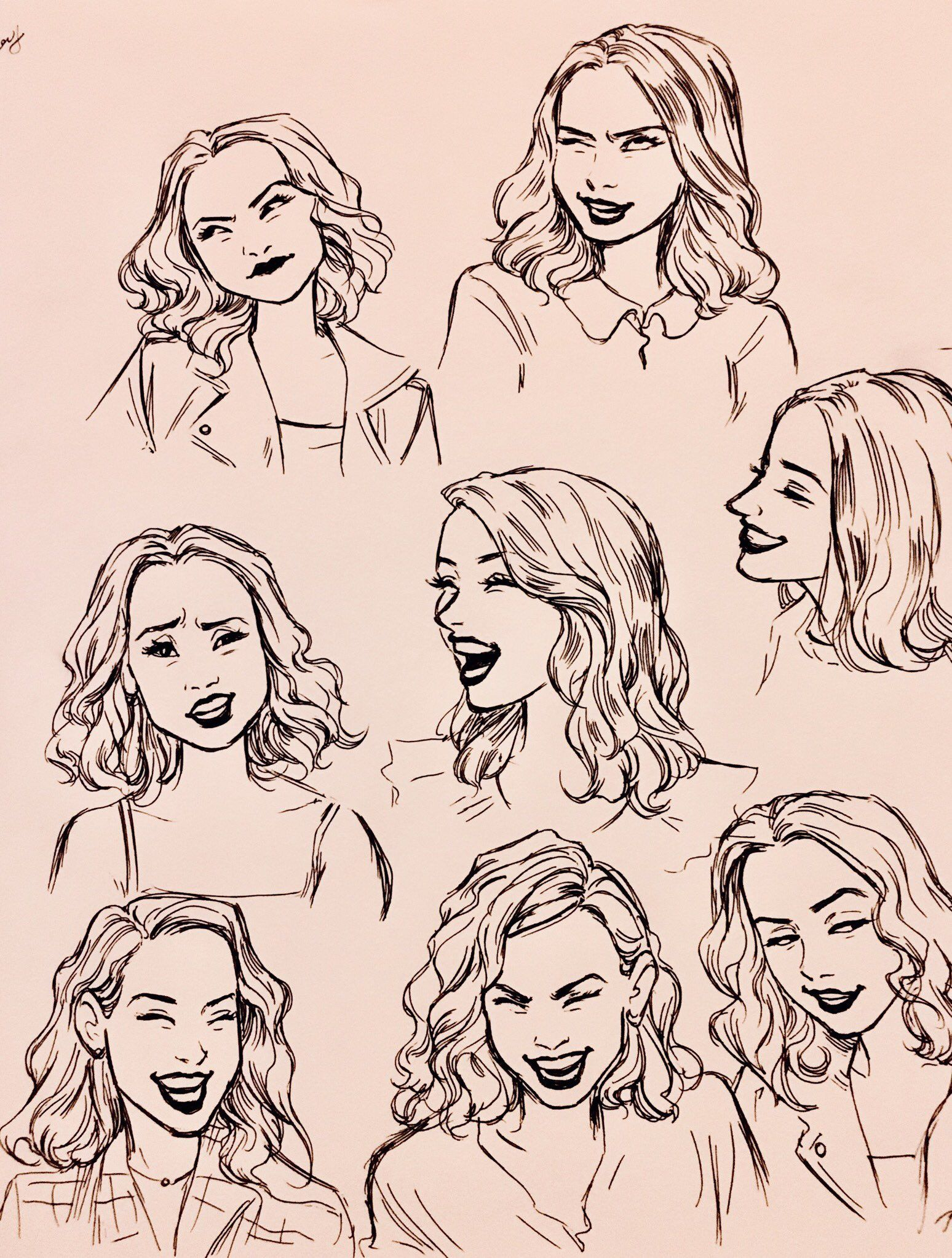 Woman Facial Expressions Drawing Expressions Art Sketches Sketches