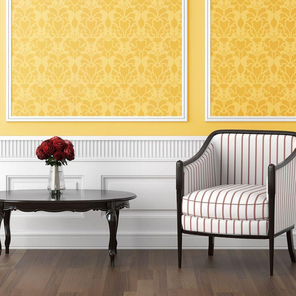 Stencil Ease Hillsborough Damask Wall Stencil - 19.5 in. x 19.5 in ...
