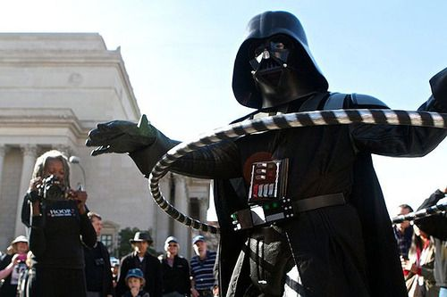 Darth Vader learns to hoop