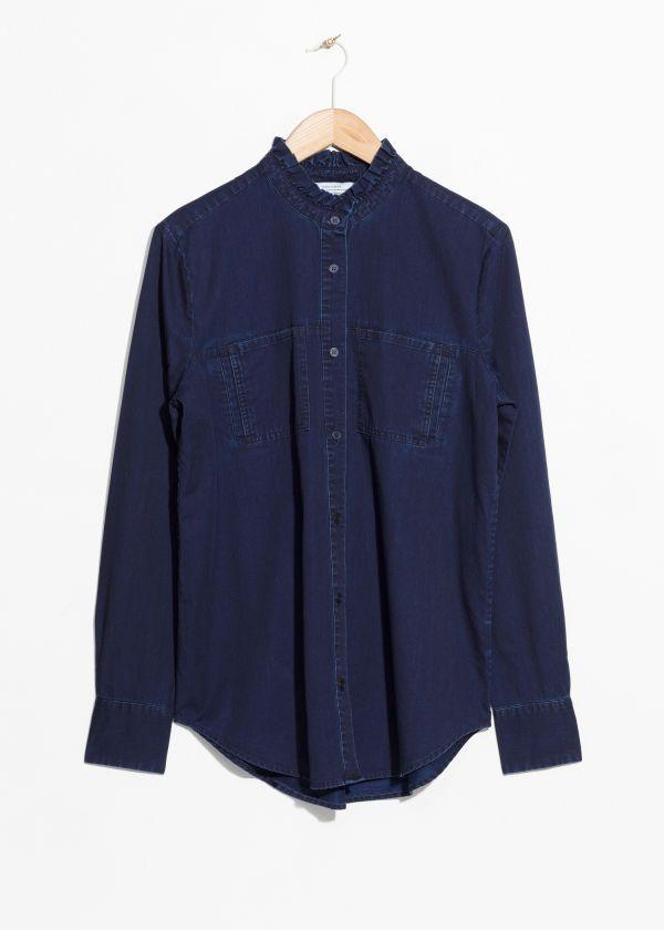 224caefa Denim Utilitarian Shirt | Minimalist Fashion in 2019 | Pinterest ...
