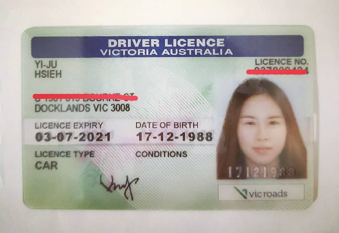 fake vic id driver license template