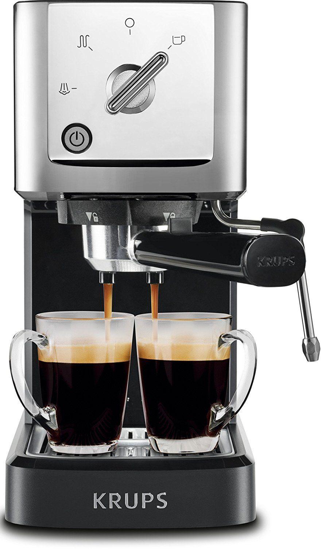 Amazon Com Krups Xp344c51 Calvi Steam And Pump Compact Espresso Machine Black Home Kitchen Espresso Machine Espresso Mac Espresso Machine Espresso Krups