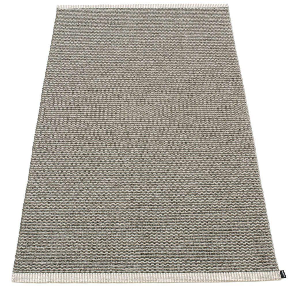 pappelina mono charcoal 85x160