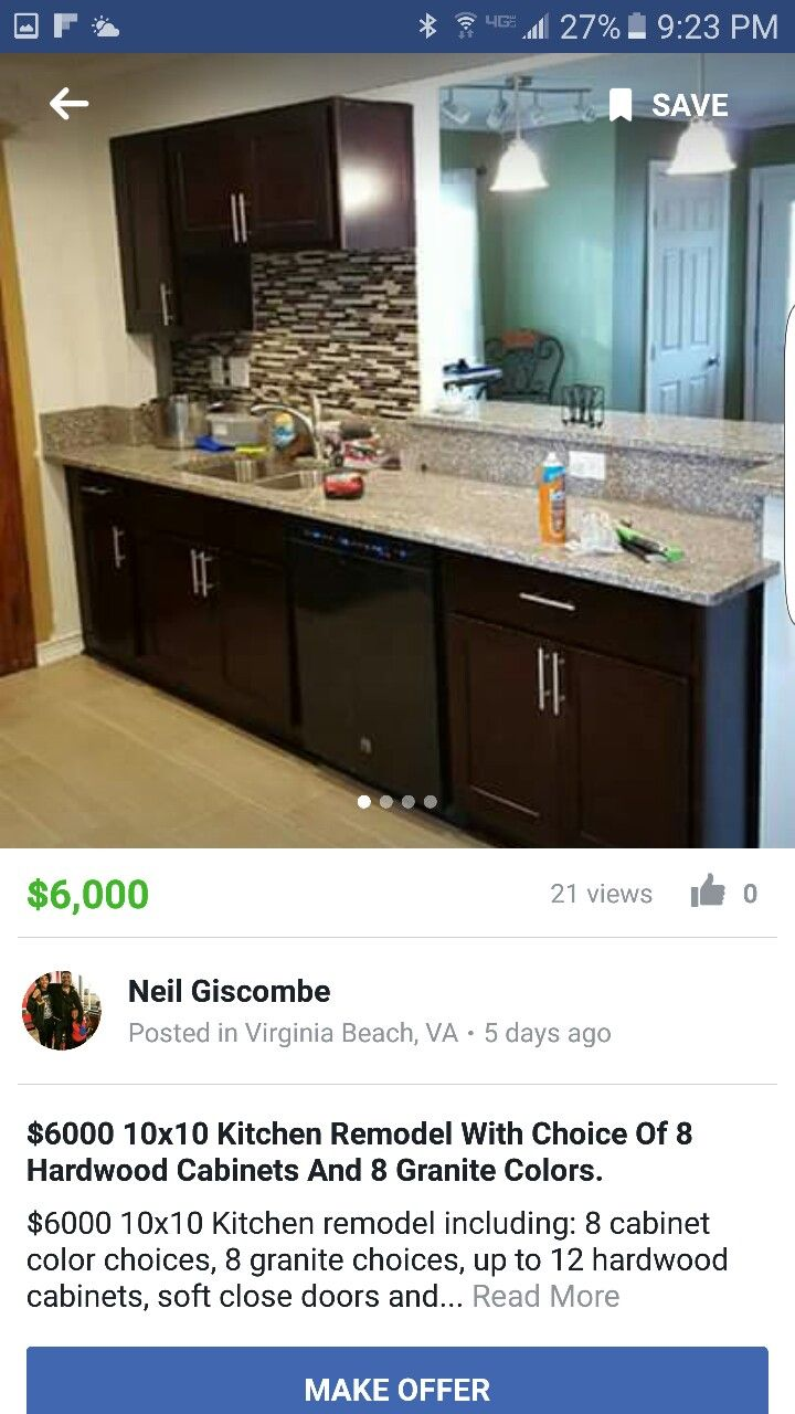 10x10 Kitchen Remodel: Granite Choices, 10x10 Kitchen