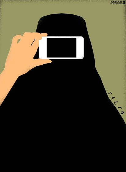Selfie… Today's cartoon by Falco: http://www.cartoonmovement.com/cartoon/26540