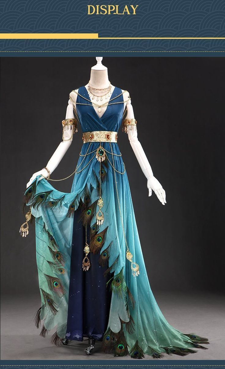 Photo of UWOWO Feather Garment Song Serie Blue Peacock Anthropomorphi…