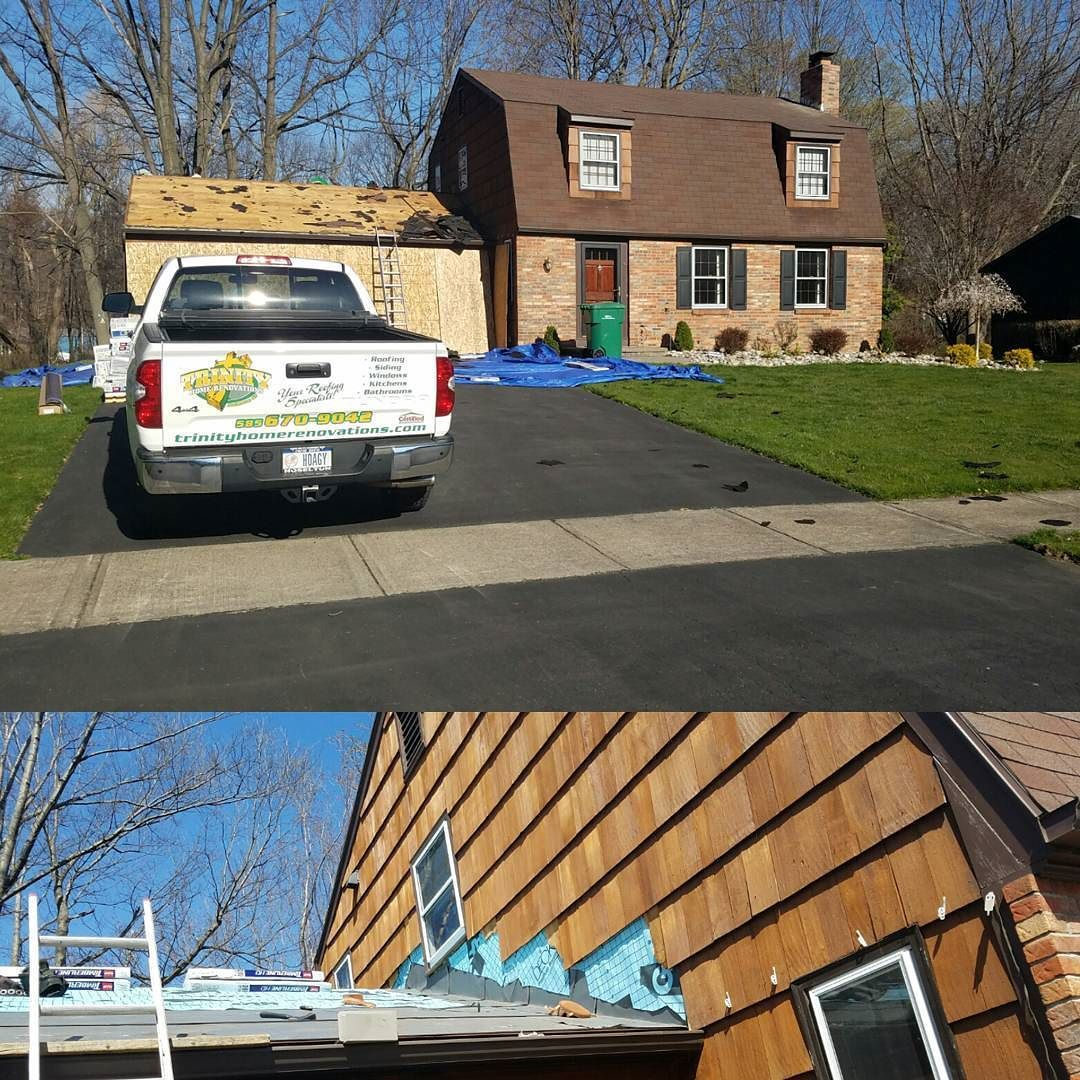 Today S Roof Of The Day In West Irondequoit Is Brought To You By The Letter B Is For Batman Holy Peanut Butter Robi Trinity Homes Home Renovation Roofing