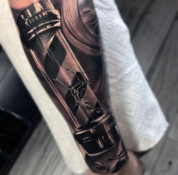 100 barber tattoos for men masculine design ideas tattoo tatoo rh pinterest com barber pole tattoos designs barber pole tattoos
