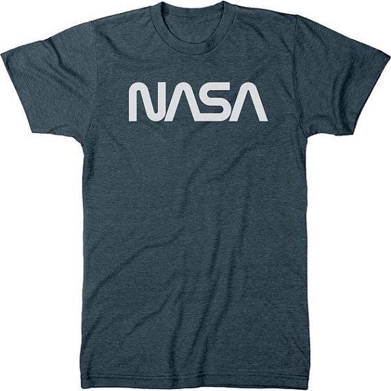 e3cc17fb NASA 70s Worm White Logo Men's Tri-blend T-Shirt in 2019   Products ...