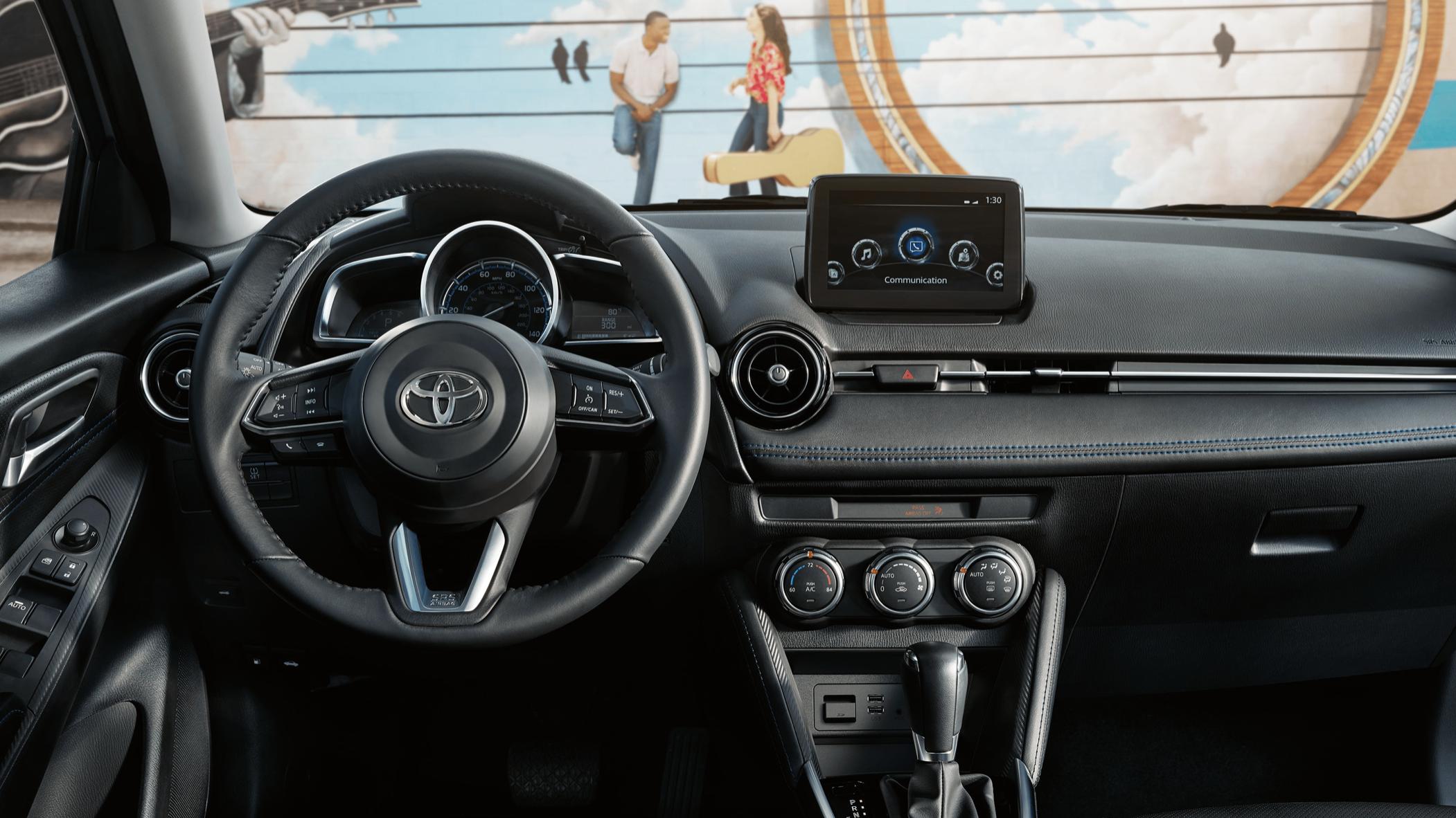 2020 Interior Of Toyota Yaris Car Sedan In 2020 Yaris Toyota Car Salesman
