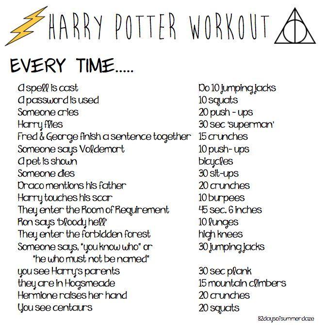 D30c353fc94238705ef0c676d9f7798a Jpg 670 669 Harry Potter Marathon Harry Potter Fanfiction Fitness Workouts