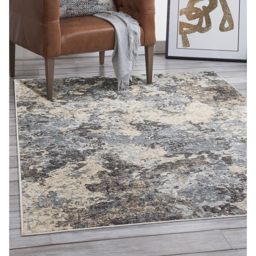 Sonoma Ramsey Blue Grey Charcoal Ivory 5 Ft 3 In X 7 Ft 6 In