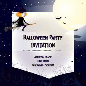 Halloween invitation vector graphic 300 x 300 px ny pinterest halloween invitation vector graphic 300 x 300 px stopboris Gallery