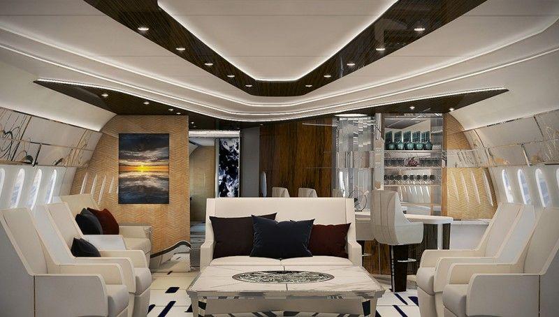 Step inside the custom interior of this boeing dreamliner private jet video aviation also rh ar pinterest