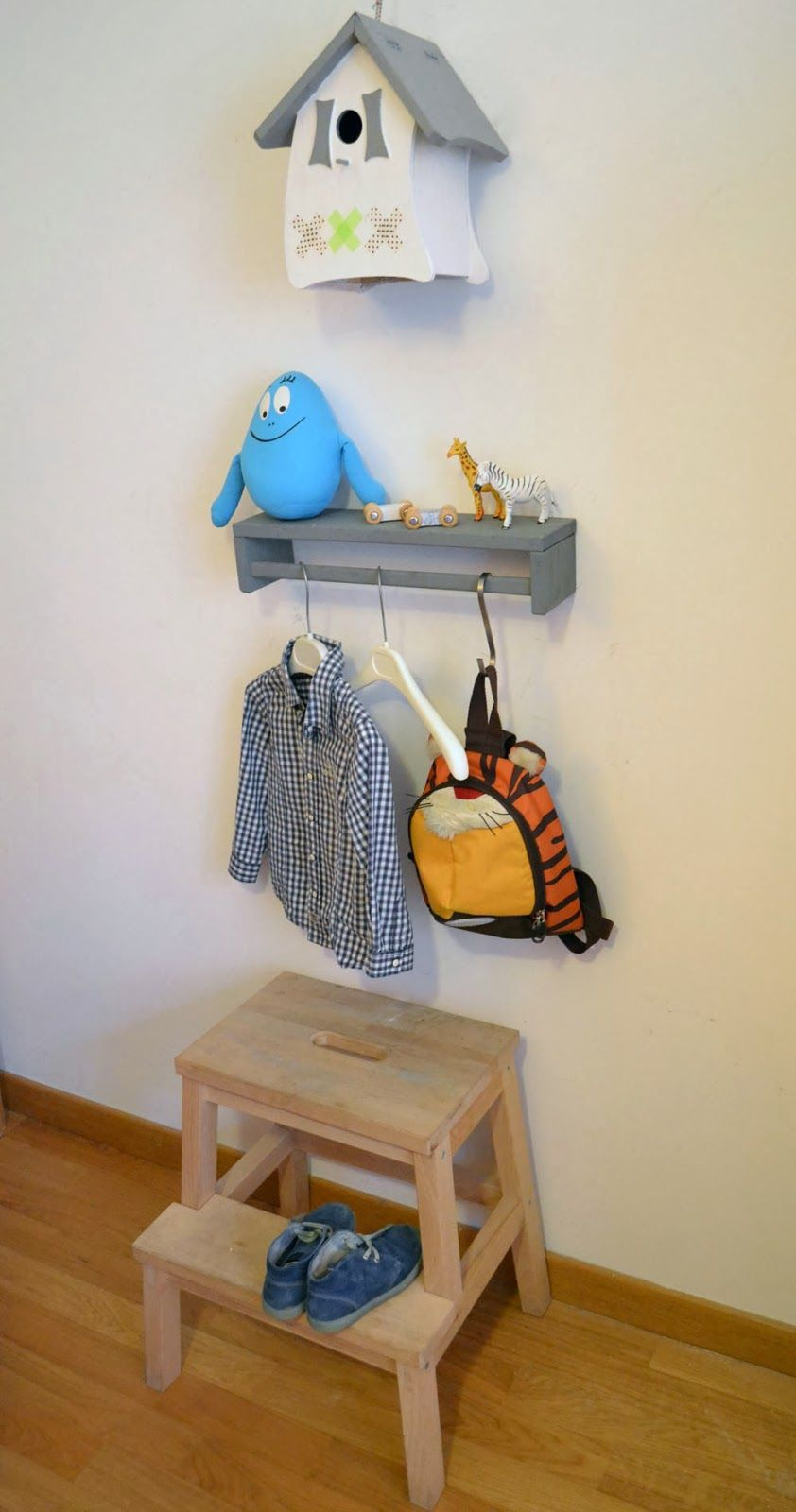 mommo design: IKEA HACKS FOR KIDS - Bekvam spice rack as shelf/coat rack