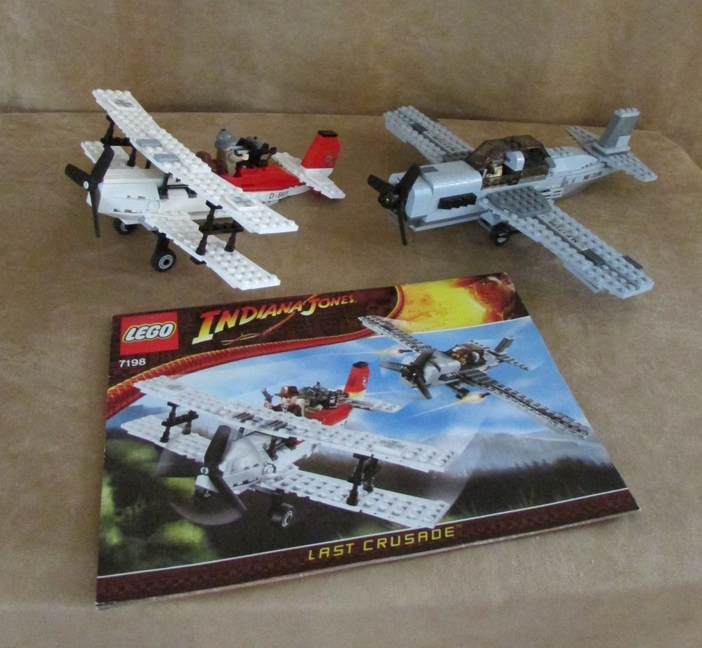 7198 Lego Complete Indiana Jones Fighter Plane Attack Instructions