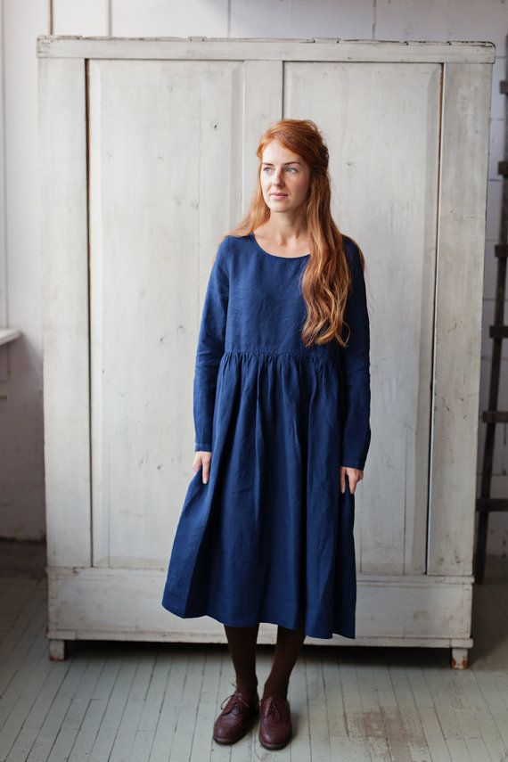58f4cf07a ... smock dress is sure to become one of your all-time favorites – and  remain so for years to come. Made of high quality linen