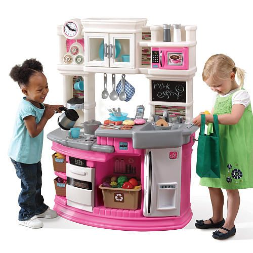 Step2 Lil Chef S Gourmet Kitchen Pink Toddler Kitchen Set Play Kitchen Sets Toddler Kitchen