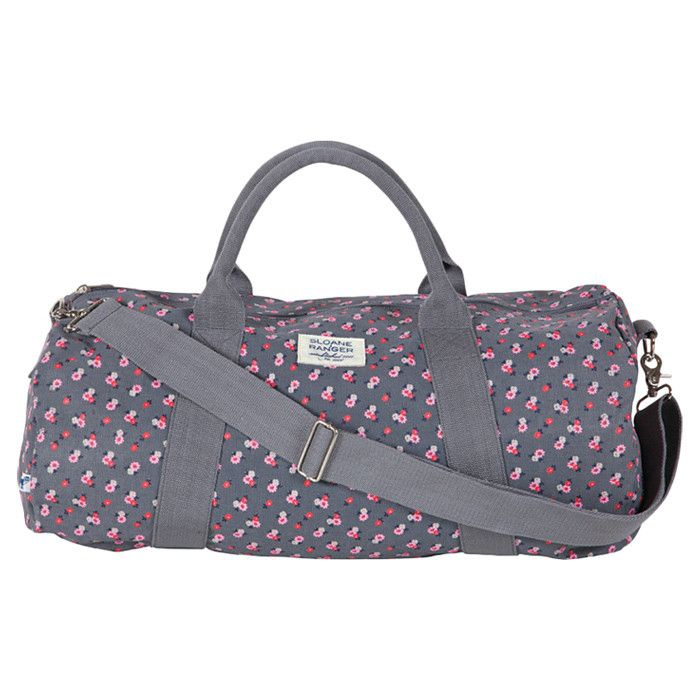 52a3e7cc7a2d Floral Duffle   Gym Bag - neutral while being a little bit girly ...