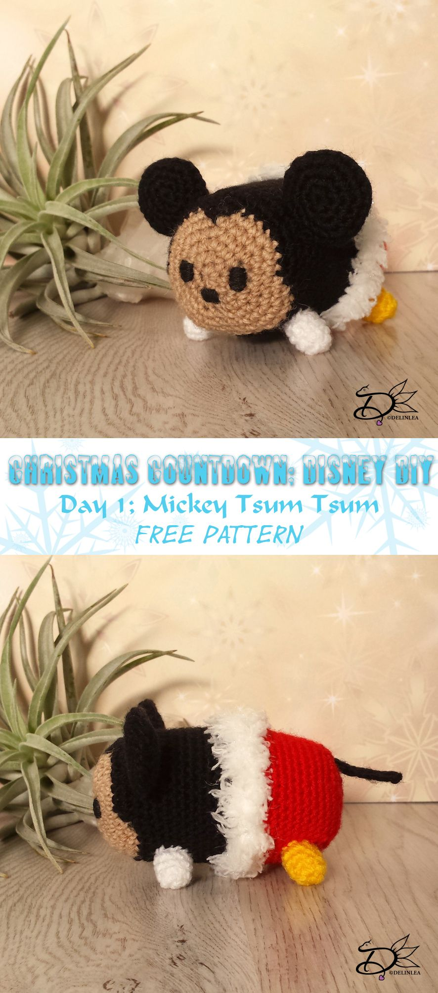 Christmas Caountdown day1: amigurumi Mickey Mouse Tsum Tsum of ...