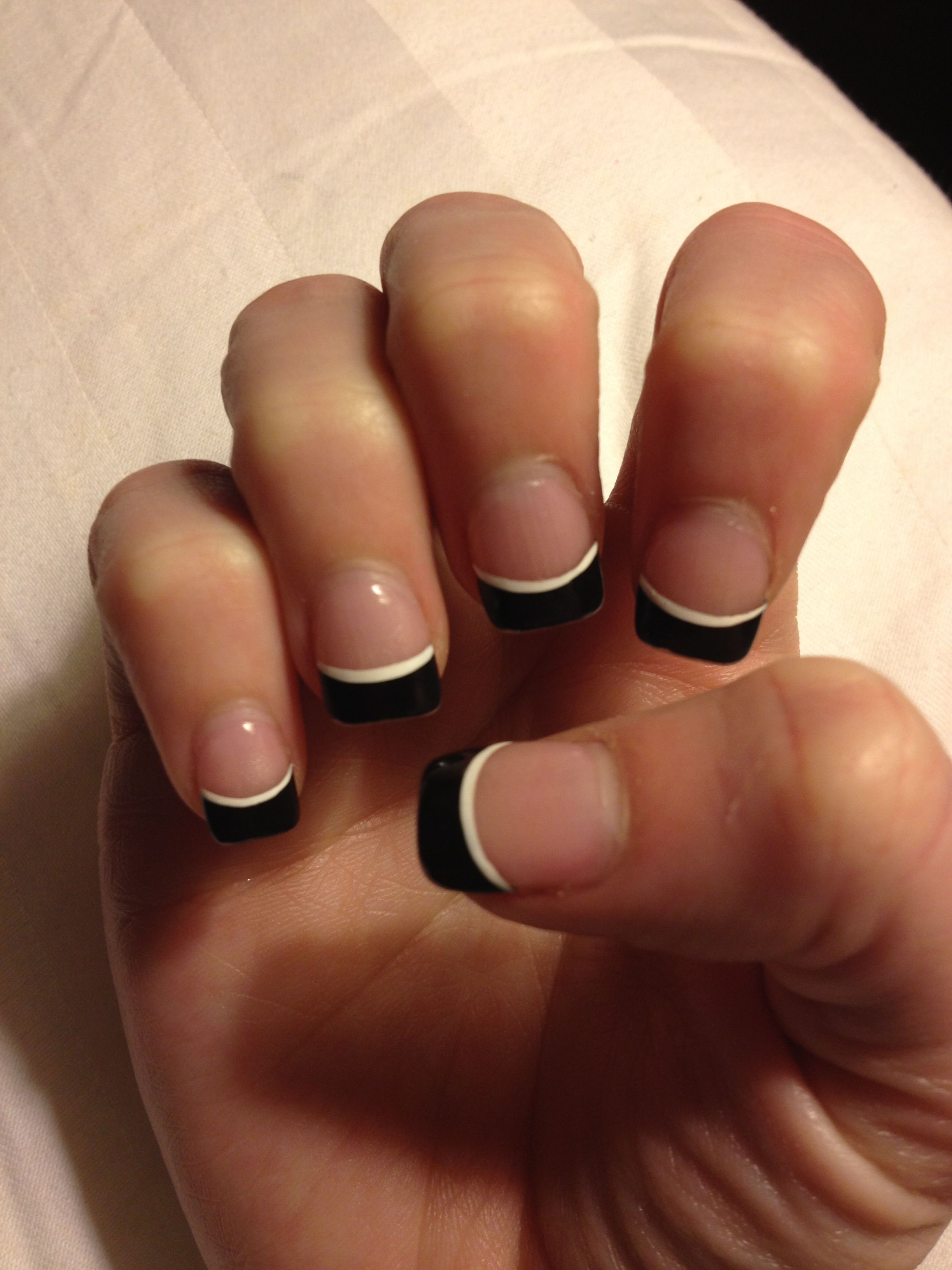 Black French Tip Cute Nail Design Things I Like Pinterest